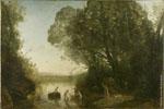 Camille Jean-Baptiste Corot | Le Bain de Diane [La Compagnie de Diane ; Effet du matin ; Les Baigneuses] (1855) | Huile sur toile, 168 x 257 cm | N° d'inventaire Bx E 489 (Bx M 7028)