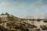 Pierre Lacour père | Vue d'une partie du port et des quais de Bordeaux dits des Chartrons et de Bacalan (1804-1806) | Huile sur toile, 207 x 340 cm | N° d'inventaire Bx E 682