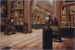 Georges de Sonneville | Intérieur du Musée des Beaux-Arts de Bordeaux (vers 1907) | Huile sur toile, 61,2 x 80,8 cm | N° d'inventaire Bx 1991.10.1