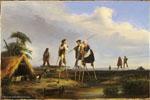 Jean-Louis Gintrac | Habitants des Landes (19e siècle) | Huile sur toile, 32,5 x 46 cm | N° d'inventaire Bx E 349 (Bx M 6691)