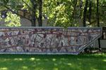 Bissière | L'Évolution humaine de l'origine à nos jours. Mur mosaïque (1969), Université Bordeaux Montaigne
