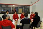 Séance de coaching, organisée par la Direction Technique Nationale, dans le cadre de la préparation aux championnats du monde en trinquet des moins de 22 ans.