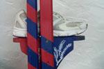 Les échasses customisées de Tanguy (détail)
