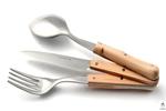 Set Pcinic Nontron | Design Stefania Di Petrillo | Manches en buis avec un bloc compact comprenant une fourchette, un couteau, une cuillère